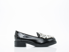 Jeffrey Campbell In Black Box Clear Ledger Jewel