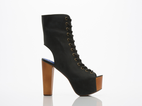 Jeffrey Campbell In Black Distressed Liana