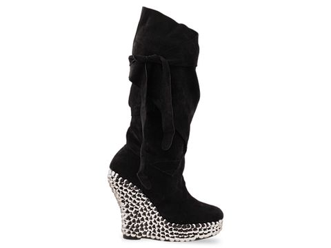 Jeffrey Campbell In Black Suede Libby Tick
