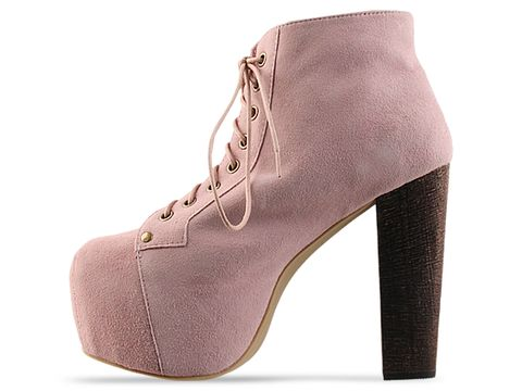 Jeffrey Campbell In Baby Pink Suede Lita