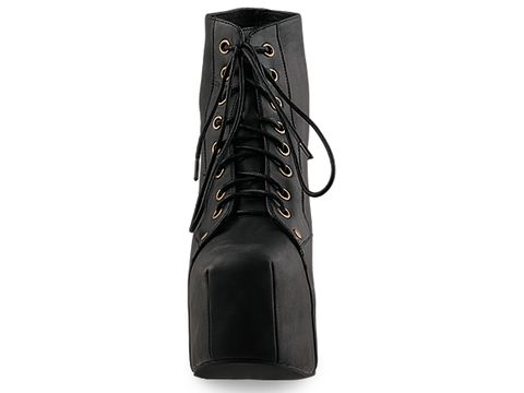 Jeffrey Campbell In Black Distressed Leather Lita