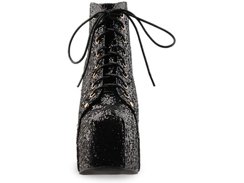 Jeffrey Campbell In Black Glitter Lita