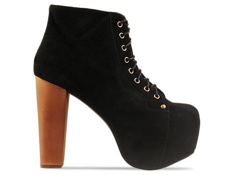 Jeffrey Campbell In Black Suede Lita