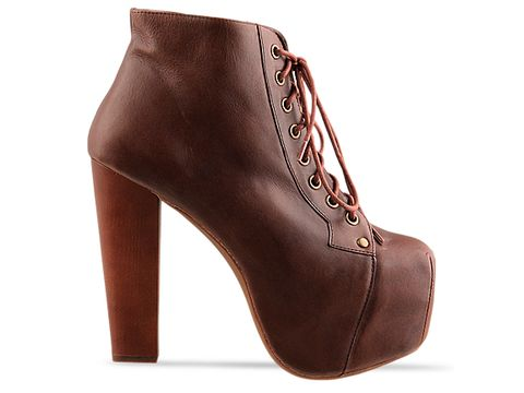 Jeffrey Campbell In Brown Distressed Leather Lita