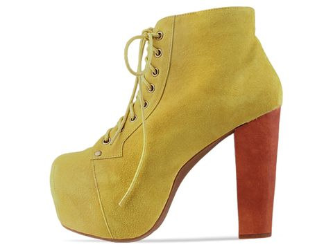 Jeffrey Campbell In Dark Yellow Suede Lita