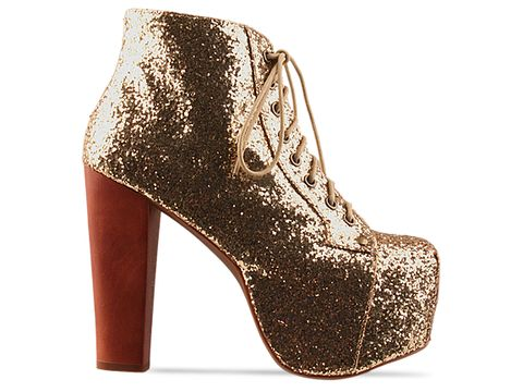 Jeffrey Campbell In Gold Glitter Lita
