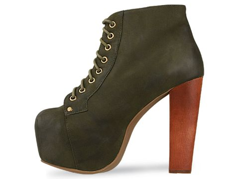 Jeffrey Campbell In Khaki Distressed Lita
