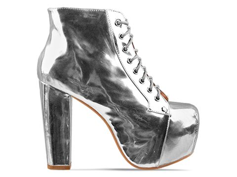 Jeffrey Campbell In Metallic Silver Lita