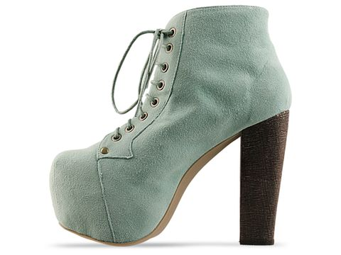 Jeffrey Campbell In Mint Suede Lita