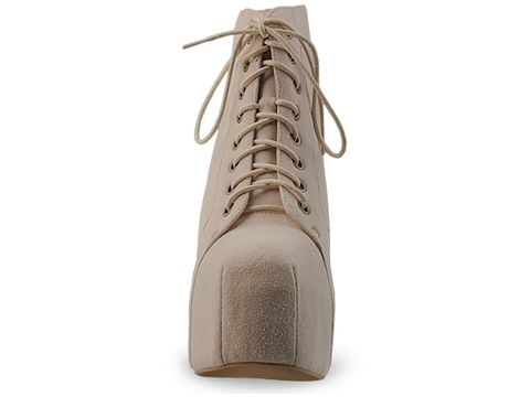 Jeffrey Campbell In Nude Suede Lita
