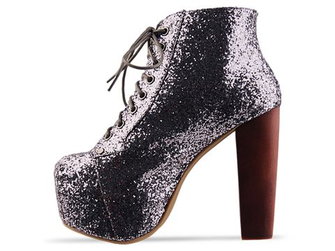 Jeffrey Campbell In Pewter Glitter Lita