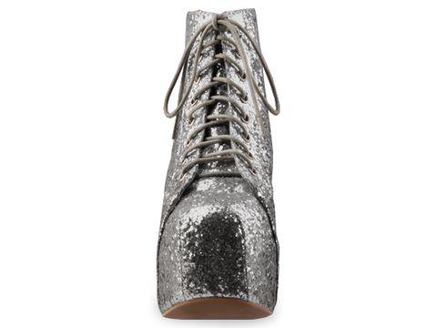 Jeffrey Campbell In Silver Glitter Lita