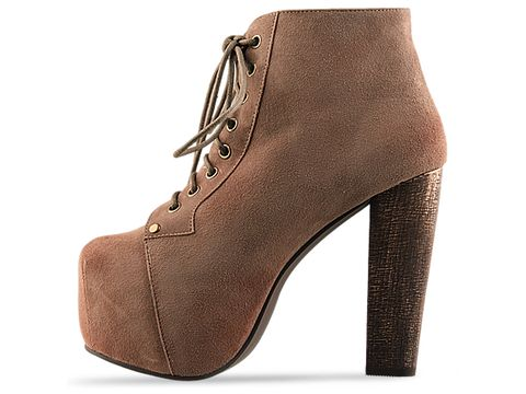 Jeffrey Campbell In Taupe Suede Lita