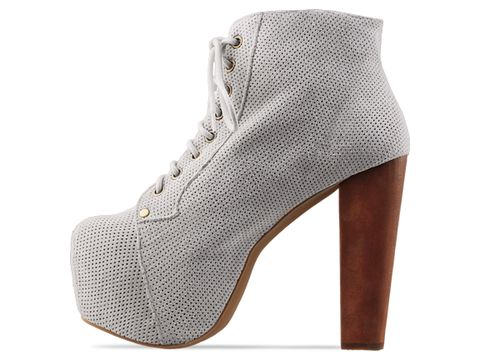 Jeffrey Campbell In White Perf Suede Lita
