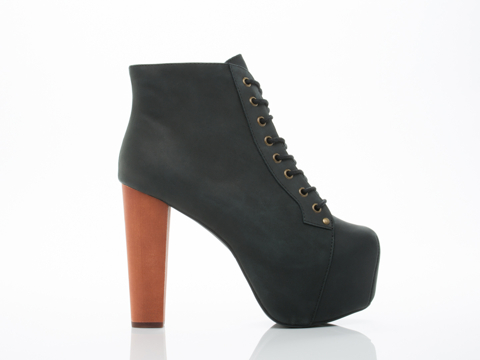 Jeffrey Campbell In Black Distressed Lita 2.0