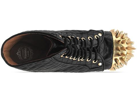 Jeffrey Campbell In Black Quilted Gold Lita Crown
