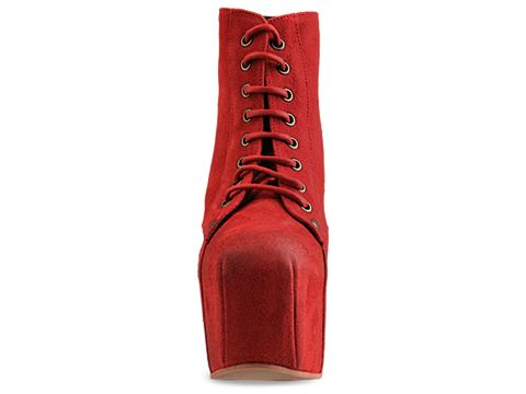 Jeffrey Campbell In Red Suede Distressed Lita Espana