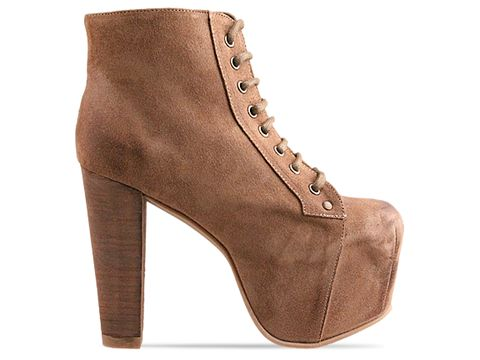 Jeffrey Campbell In Taupe Suede Distressed Lita Espana