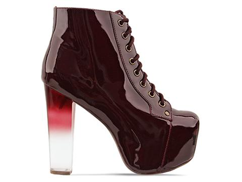 Jeffrey Campbell In Dark Red Patent Lita Grad