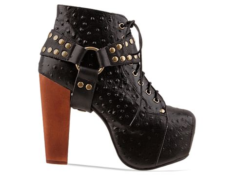 Jeffrey Campbell In Black Ostrich Lita Harness