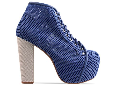 Jeffrey Campbell In Blue Ivory Lita Mesh