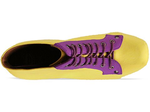 Jeffrey Campbell In Yellow Purple Black Lita Neoprene