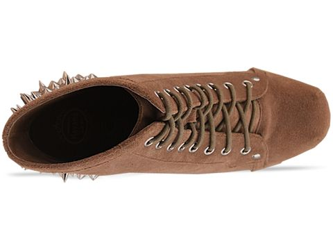 Jeffrey Campbell In Taupe Suede Lita Spike