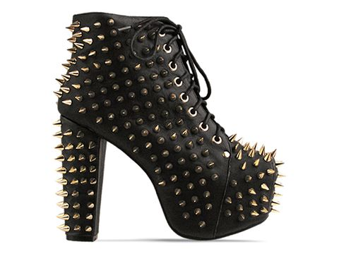 Jeffrey Campbell In Black Gold Lita Spike 2 Gold