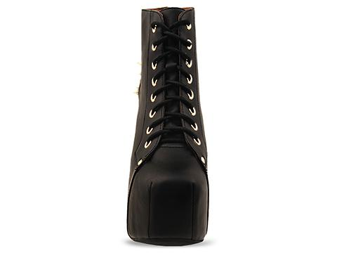 Jeffrey Campbell In Black Gold Lita Spike Star