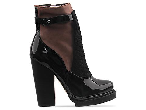 Jeffrey Campbell In Black Patent Brown Combo Lopez