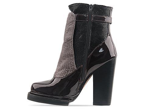 Jeffrey Campbell In Dark Brown Patent Grey Combo Lopez