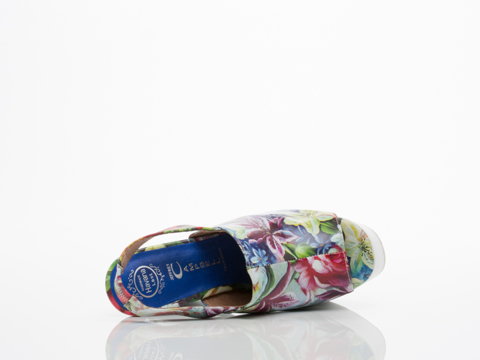 Jeffrey Campbell In Blue Floral White Lottery