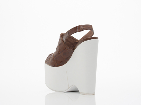 Jeffrey Campbell In Brown Croco White Lottery