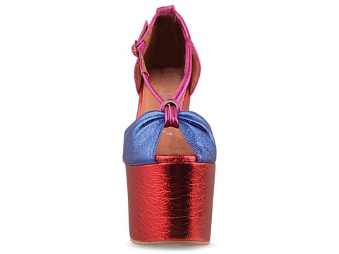 Jeffrey Campbell In Blue Fuchsia Red Metallic Lotus