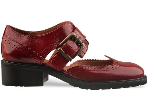 Jeffrey Campbell In Red Leather Maddow