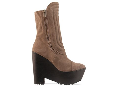 Jeffrey Campbell In Taupe Suede Major Tom