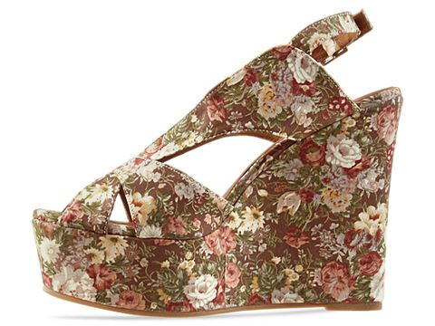 Jeffrey Campbell In Brown Floral Mariel