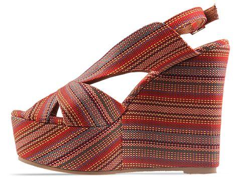 Jeffrey Campbell In Red Aztec Stripe Mariel