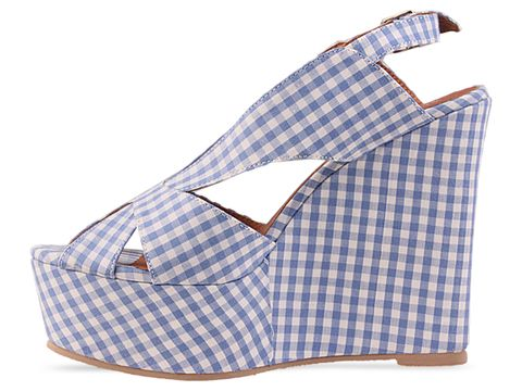 Jeffrey Campbell In Blue Mariel Gingham