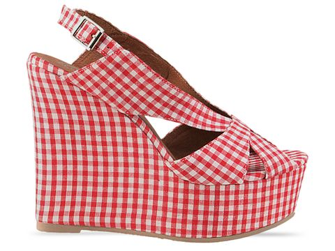Jeffrey Campbell In Red Mariel Gingham