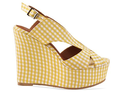 Jeffrey Campbell In Yellow Mariel Gingham