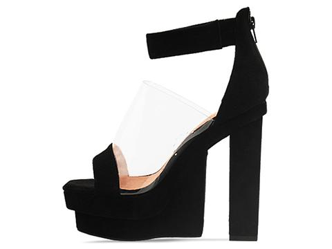 Jeffrey Campbell In Black Suede Clear Medina