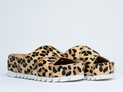 Jeffrey Campbell In Natural Leopard Menorca 3X
