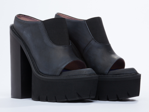 Jeffrey Campbell In Black Washed Black Mori