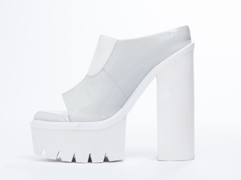 Jeffrey Campbell In Grey Patent White Mori