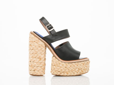Jeffrey Campbell In Black Moria Espadrille