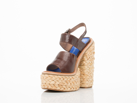 Jeffrey Campbell In Brown Moria Espadrille