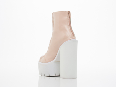 Jeffrey Campbell In Pink Patent White Mulder