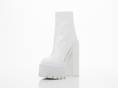 Jeffrey Campbell In White Croco White Mulder