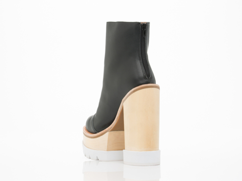 Jeffrey Campbell In Black White Mulder Wood